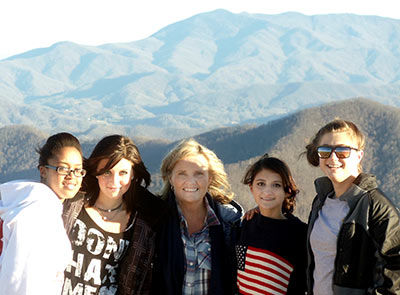 boarding school girls-on-mountain